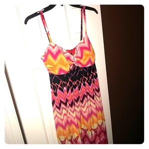 Multi color dress. Bisou Bisou size 14